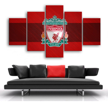 Liverpool Logo 5 Pieces Canvas Art Print You Will Never Walk Along Football Posters Paintings Sports Kids Room Home Decor