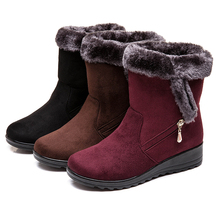 Women Boots Female Down Winter Boots Platform Warm Ankle Snow Boots Ladies Shoes Woman Warm Fur Botas Mujer Casual Booties