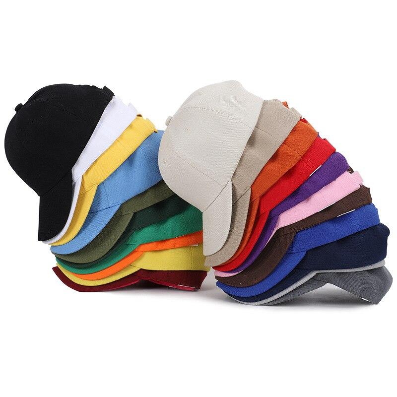 Tinta unita di Colore Solido Cappellini Da Baseball 22 Degli Uomini multicolori Donne Visiera Del Cappello Regolabile Nastro di Nylon di Fissaggio Casual Cappellini Sportivi Commercio All'ingrosso 2