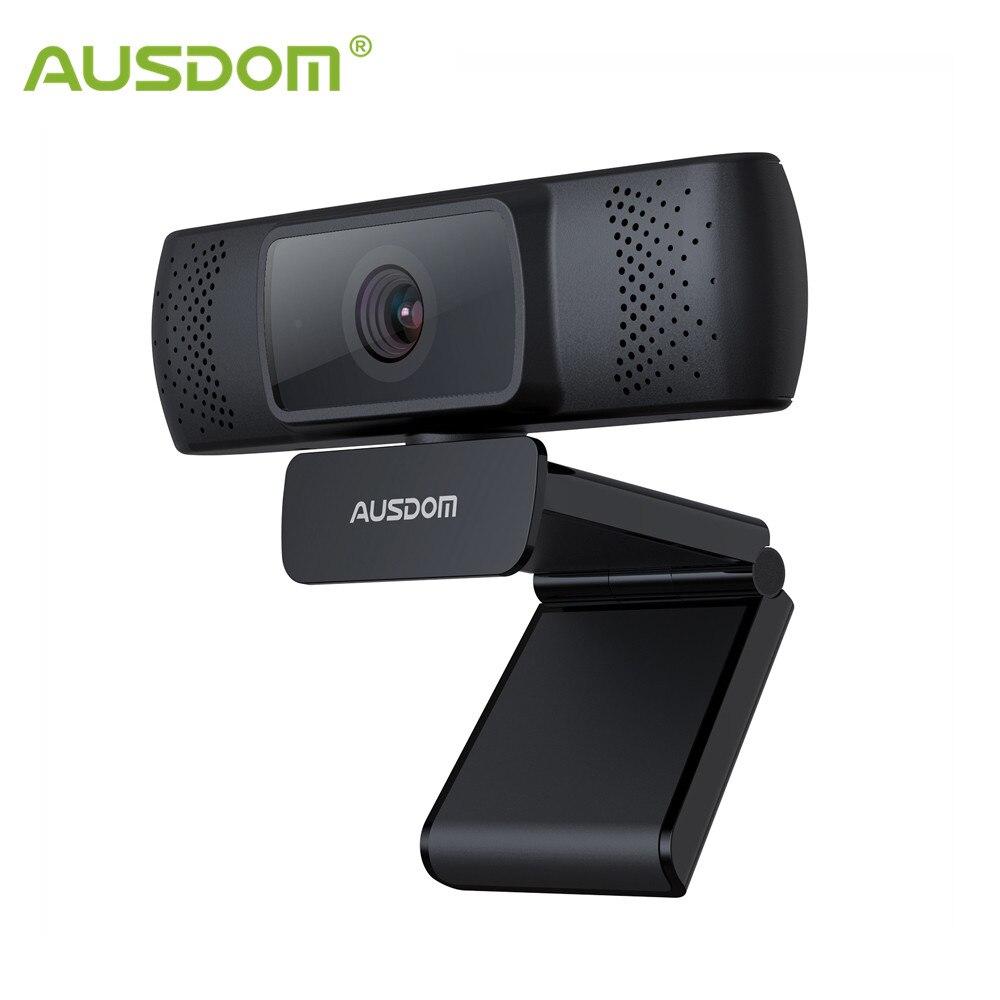 AUSDOM AF640 אינטרנט מצלמה מלאה HD 1080P פוקוס אוטומטי עבור ועידת וידאו מצלמת אינטרנט עם מיקרופון למחשב