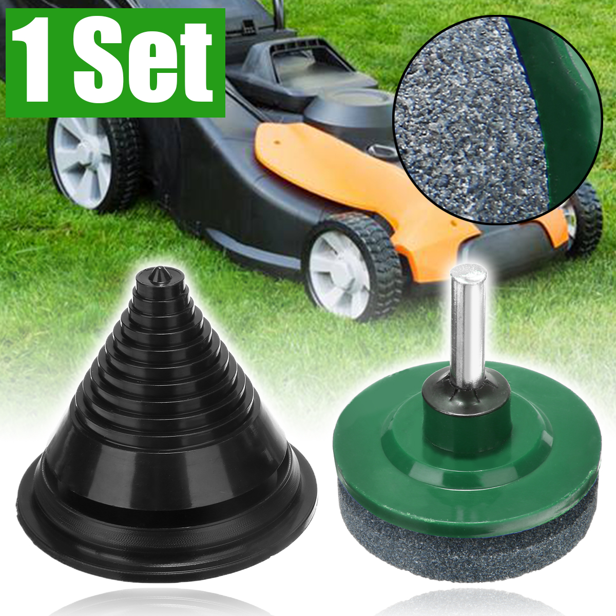 Rotary Lawn Mower Metal Faster Blade Balancer Tough Sharpener Grinding Garden Tool