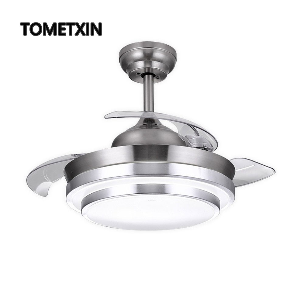 42 Inch Ceiling Fan Fans With Lights Dc Frequence Modern Nordic Living Room Light Lamp Bedroom Decrotion Air Circulation Reverse Fashionable(In) Style;