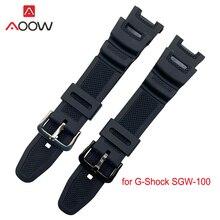 Силиконовый ремешок для часов Casio G-shock, резиновый водонепроницаемый спортивный мужской браслет на замену для SGW100, ремешок для часов, аксессу...