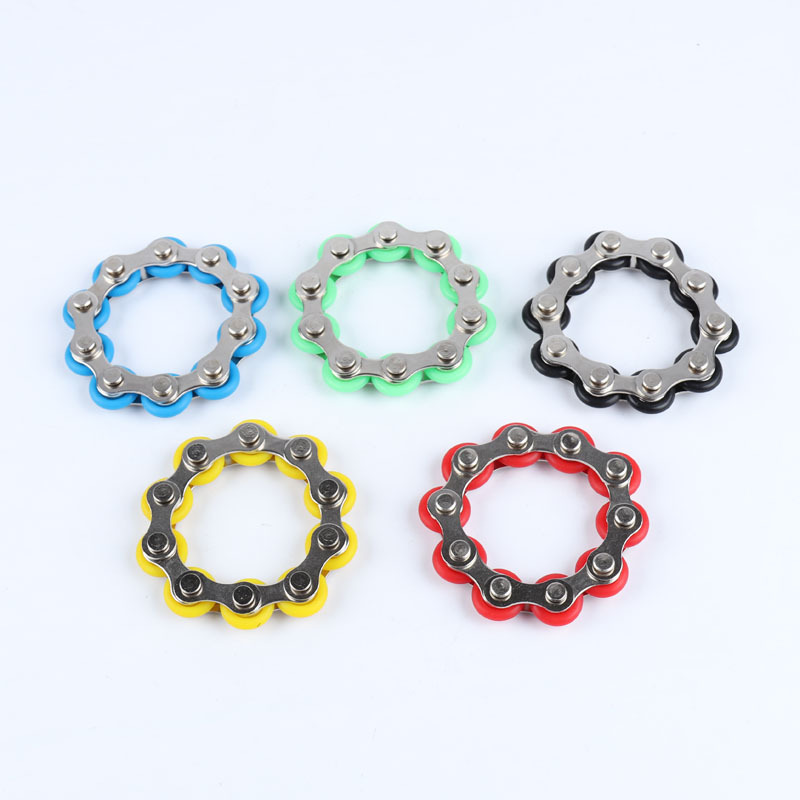 Toy Bracelet Bike-Chain Fidget-Toy Autism Anti-Stress ADHD New for Adult/student Spinner