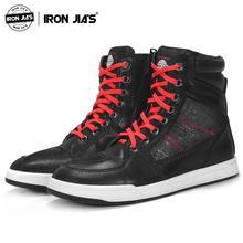 Ботинки в байкерском стиле; дышащие, ударопрочные, защитные, туристические, городские, мото, повседневные ботильоны из искусственной кожи, железные, мотоциклетные ботинки JIA'S