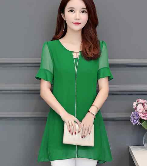 Women clothing New 2020 sring Kimono plus size women's shirts short sleeve Lace blouse shirts transparent chiffon blusas LJ244