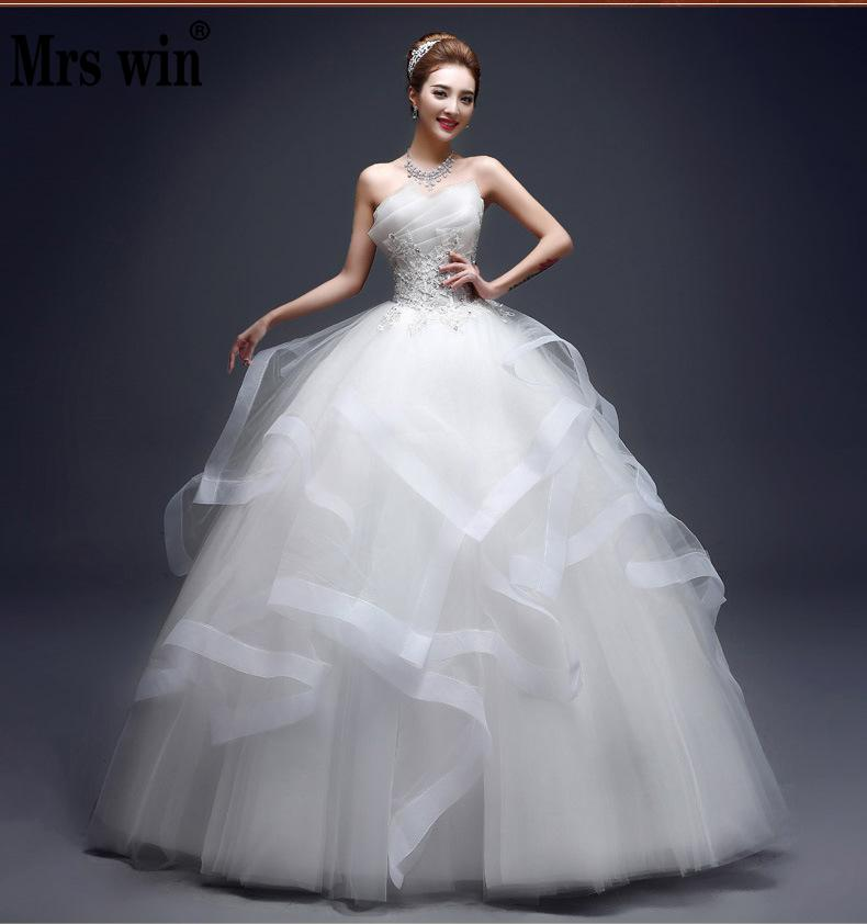 Wedding Dresses 2020 The Elegant Strapless Lace Up Ball Gown Princess Vintage Wedding Gown Custom Size 4 Colors Wedding Dress