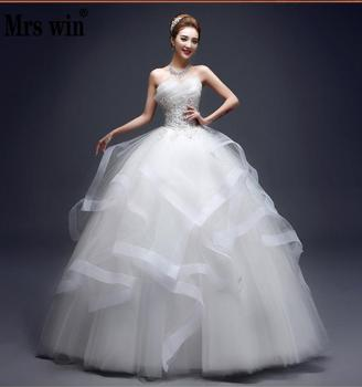 Wedding Dresses 2021 The Elegant Strapless Lace Up Ball Gown Princess Vintage Custom Size 4 Colors Dress - discount item  33% OFF Wedding Dresses