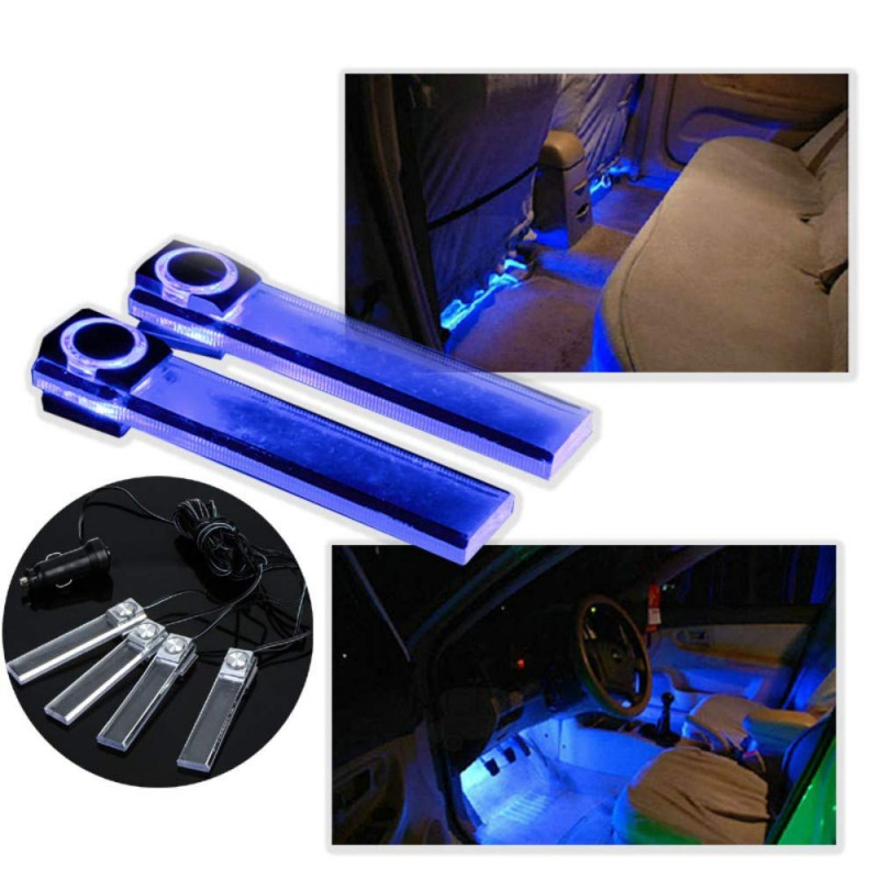 4x Ambient Light LED Atmosphere Light Auto Interior Inner Door Bowl Handle Armrest Light Car Door Interior Light Decorative Lamp