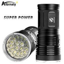 Светодиодный фонарик высокой мощности прожектор 18 x t6 фонарь