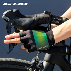 GUB Half Finger Cycling Gloves PU Anti Slip Lycra Breathable Anti Sweat MTB Road Bike Gloves Men Women Sports Gloves