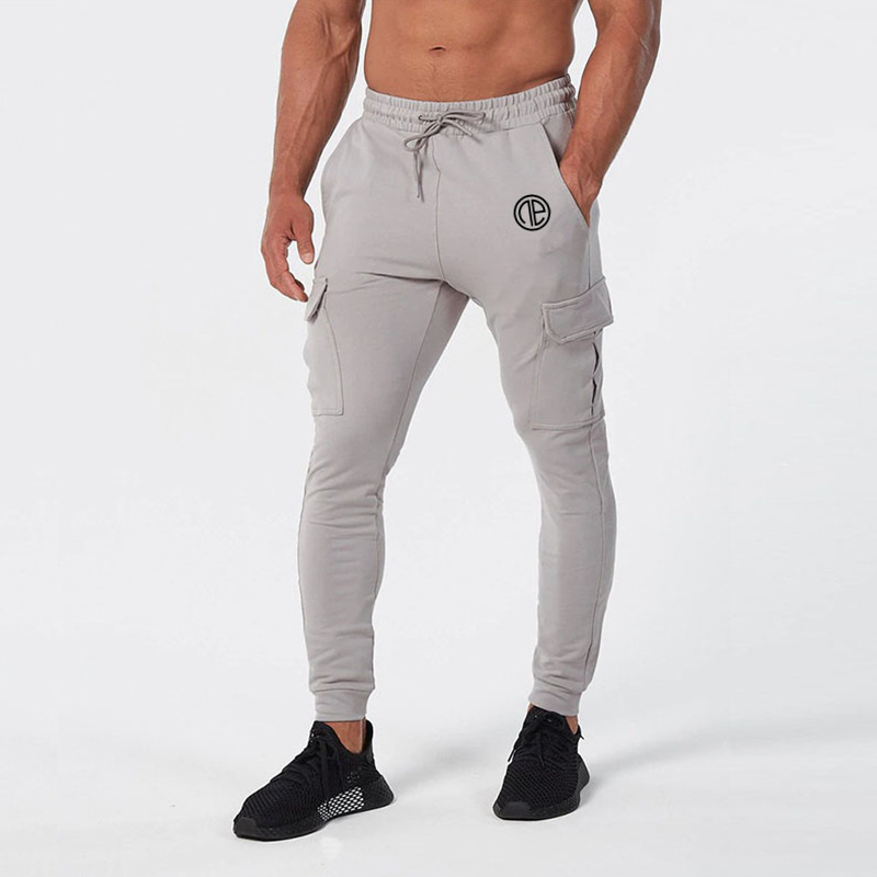 2019 Autumn Winter Side Pocket Gym Men Joggers Casual Men Sweatpants Joggers Trousers Sporting Clothing Bodybuilding Pants