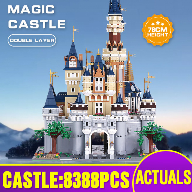 Mould King 13132 Toys Compatible With 71040 Cinderella Princess Castle Model Building Block Kids Toys Gifts Kids Christmas Toys