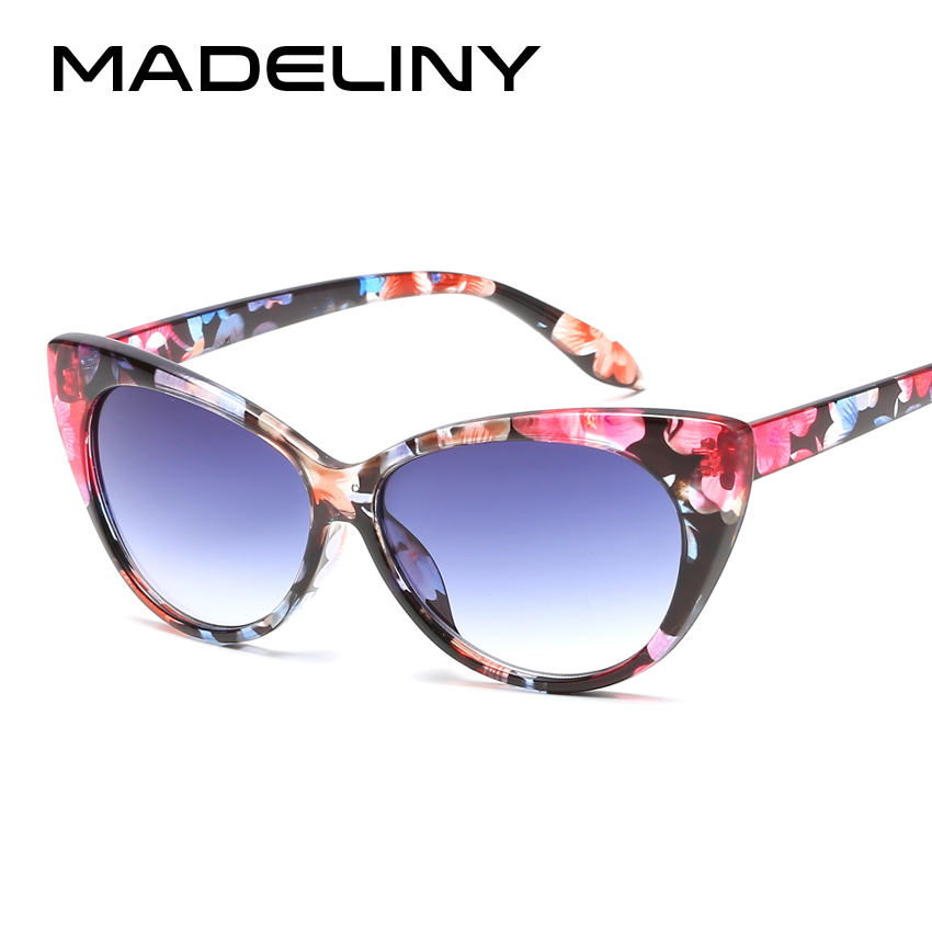 MADELINY New Fashion <font><b>Cat</b></font> <font><b>Eye</b></font> <font><b>Sunglasses</b></font> <font><b>Women</b></font> <font><b>Brand</b></font> <font><b>Designer</b></font> Vintage Ladies <font><b>Sexy</b></font> <font><b>Cat</b></font> <font><b>Eye</b></font> Glasses Oculos De Sol Feminino MA006 image