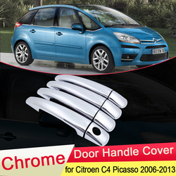 for Citroen Grand C4 Picasso 2006 2007 2008 2009 2010 2011 2012 2013 Chrome Door Handle Cover Car Catch Set Styling Accessories