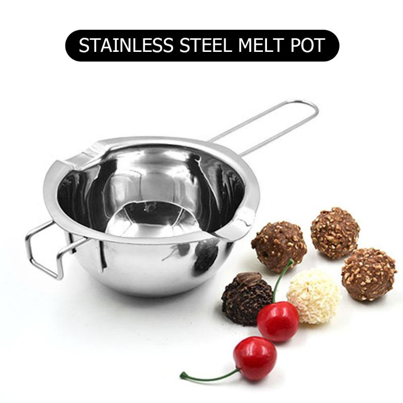 Chocolate Melting Pot Long Handle Wax Melting Stainless Steel Pot DIY Scented Candle Soap Chocolate Butter Handmade Soap Tools