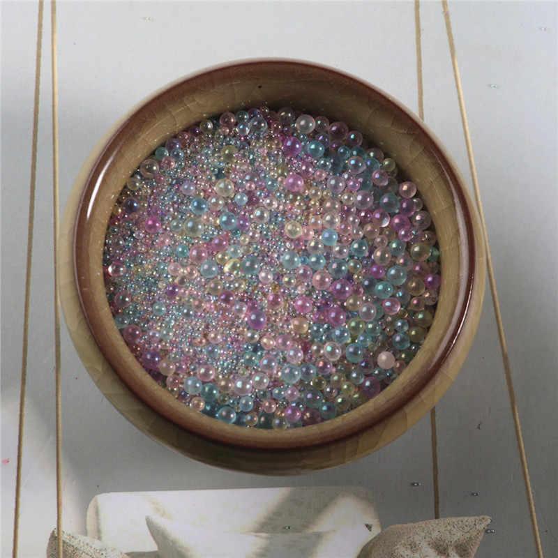 צבעוני לערבב מים בועת חרוז לערבב Kawaii UV שרף מילוי מגוון טיפת מים חרוזים מים אגל מיקרו חרוז שרף