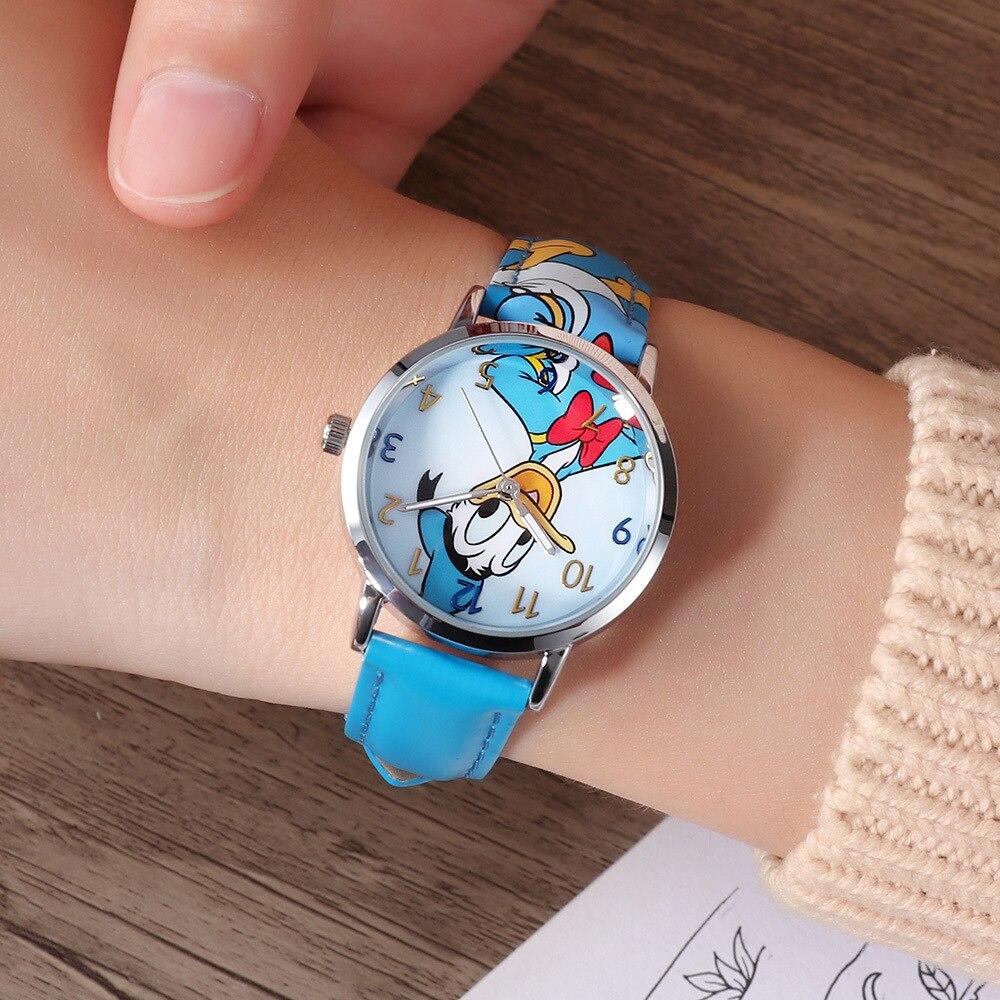 Disney Kids Watch Cartoon Student Donald Duck Children% 27s Watch Buzz Lightyear Cartoon Quartz Watch Boys Часы Girl Watch