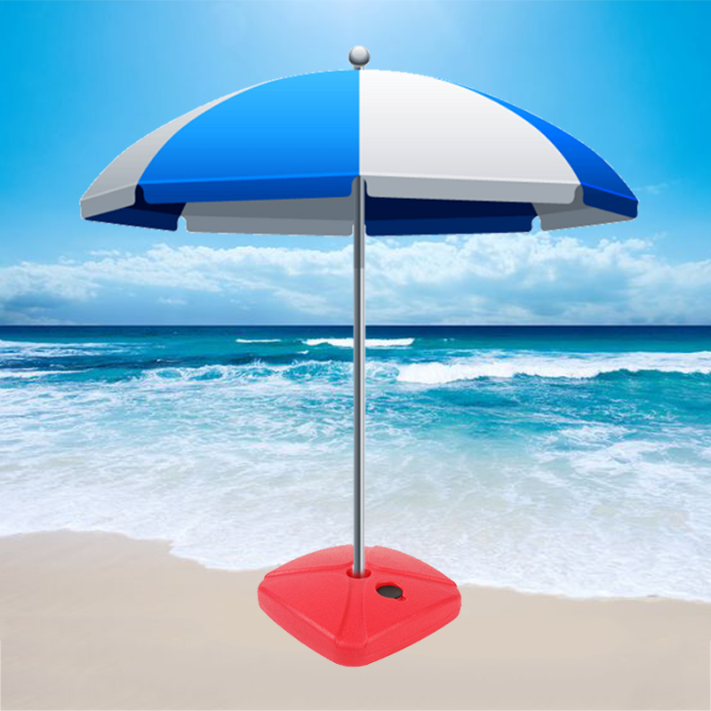 Square Grey Parasol Base Stand Weights For  Hanging Cantilever Umbrella