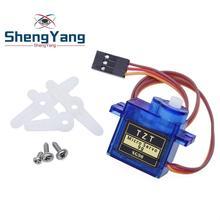 1 шт. ShengYang умная электроника Rc Мини Микро 9 г 1,6 кг сервопривод SG90 Для RC 250 450 Вертолет самолет автомобиль Лодка
