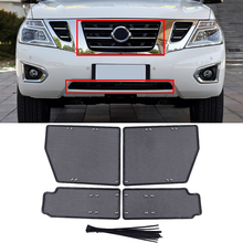 цена на For Nissan Patrol Y62 2010-2019 Car Accessories Steel Front Grille Insert Net Anti-insect Dust Rat Garbage Proof Inner Cover Net