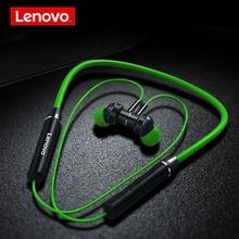 Lenovo HE06 Bluetooth 5 105mAh אלחוטי אוזניות צוואר תליית ריצה ספורט ב אוזן 120H ארוך המתנה אוזניות עבור iOS אנדרואיד