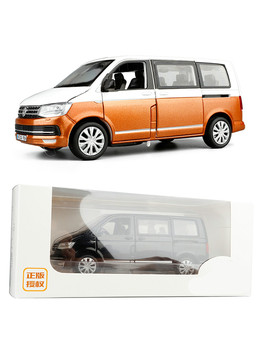 1:32 high simulation  T6  MPV business car alloy  model boy toy  model  gifts pull back sound light COLLECTION 1 18 diecast model for nissan geniss livina red mpv alloy toy car miniature collection gifts