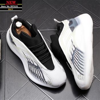 Verano de los hombres Zapatillas de deporte Hip Hop celebridad Web placa transpirables zapatos de Hombre Zapatos cada vez mayor altura Zapatillas Hombre 1