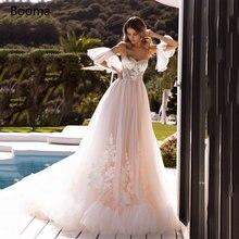 Потрясающие Розовые Свадебные платья принцессы Милые Кружевные