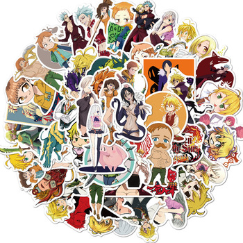 10/50Pcs The Seven Deadly Sins Anime Sticker Cartoon Sticker for Skateboard Motorcycle Scrapbook  Toy Laptop Snowboard Luggage ca971 50pcs set the seven deadly sins 90s anime sticker skateboard suitcase guitar luggage laptop sticker kid classic toy