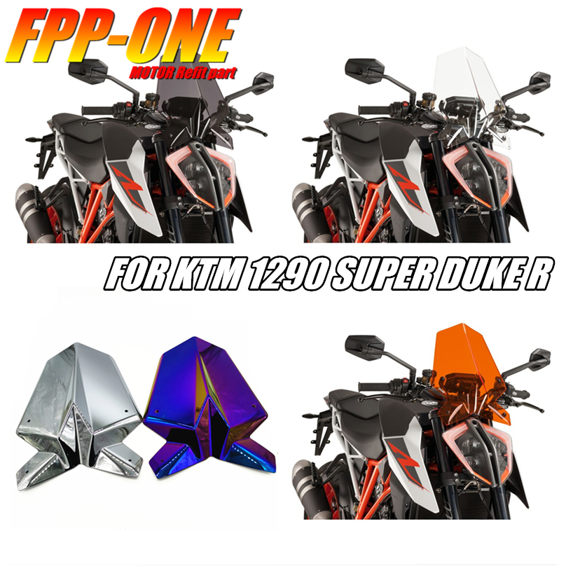 For KTM Duke 125 390 2017 2018 Motorcycle Accessories ABS Plating Windshield image