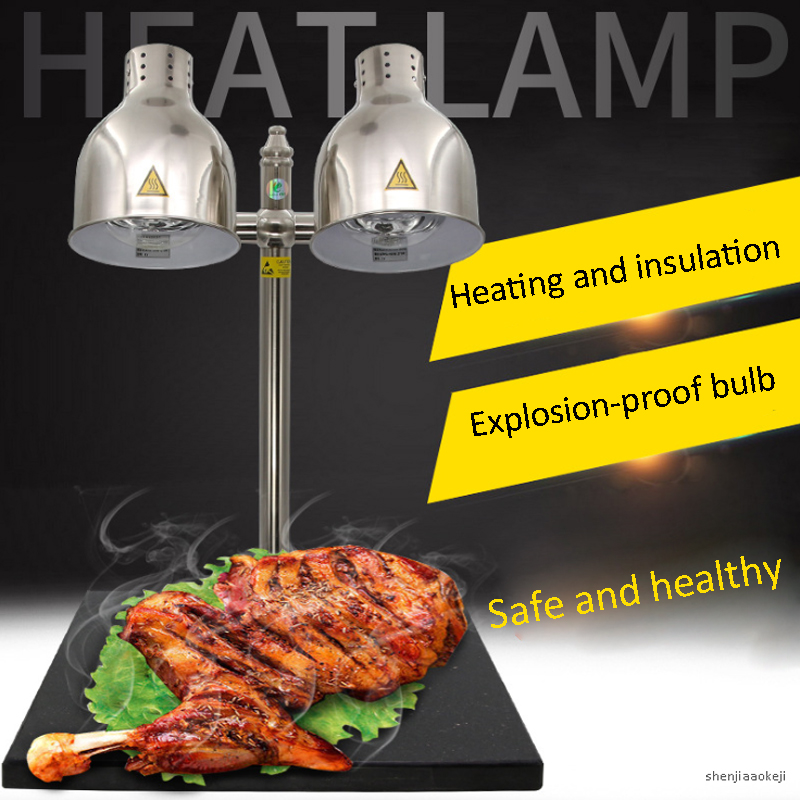 Double-head Buffet Food Insulation Table Lamp  Infrared Heat Lamp Food Keep Warm Lamp Marble