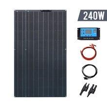 Комплект солнечных панелей 240 Вт 18 В гибкий тип для зарядки