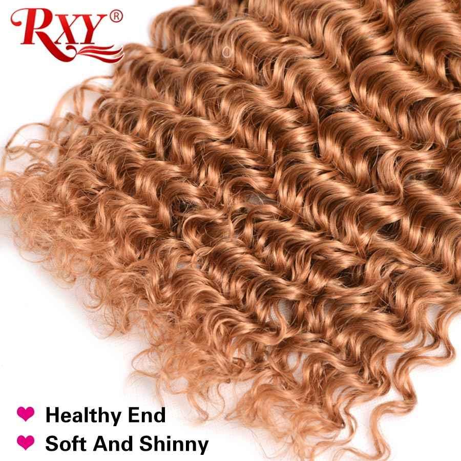 Rxy 27 Warna Gelombang Dalam Bundel 10-28 Inci Brasil 100% Rambut Manusia Menenun Gratis Pengiriman Cepat Remy 1/3/4 Bundle