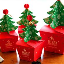 10Pcs Christmas Party Paper Favour Gift Cupcake Xmas Sweets Carrier Bags Boxes Cute bag to hold your candy or gifts inside
