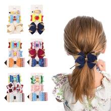 3Pcs/Set Cartoon Baby Girls Hair Pins Hair Accessories Glitter Bowknot Hairpins Sweet Kids Barrettes Students Hairgrips 2021 New