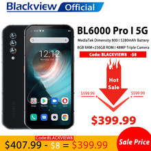 Blackview BL6000 Pro 5G Smartphone IP68 Wasserdichte 48MP Triple Kamera 8GB RAM 256GB ROM 6,36 Zoll Globale version Handys