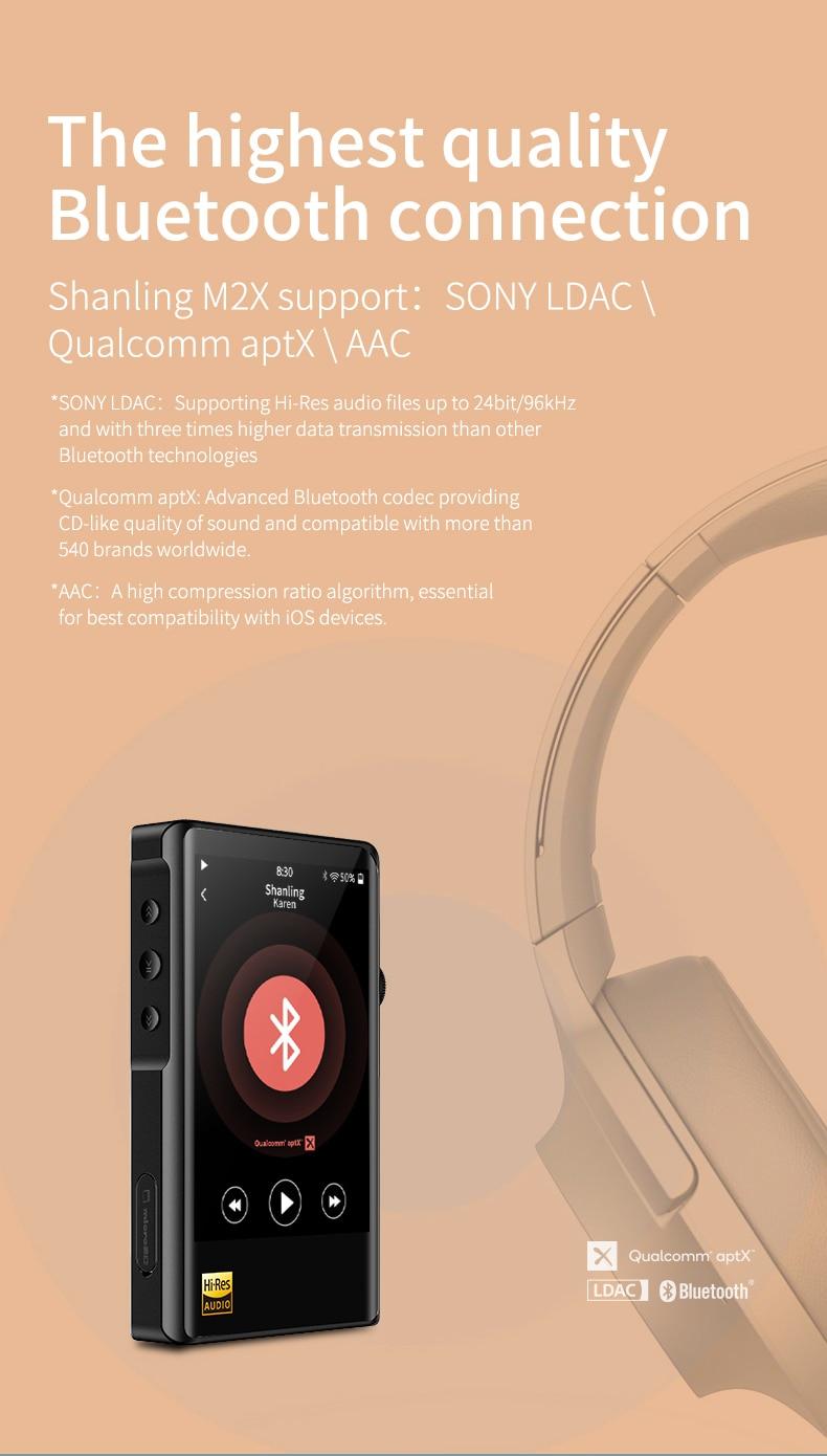 bluetooth saída equilibrada de alta fidelidade qualidade som portátil mp3 player