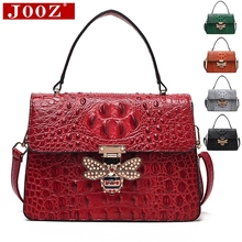 JOOZ Designer Handtaschen Hohe Qualität Metall biene schloss frau Handtaschen Krokodil Frauen Schulter Taschen Für Frauen umhängetasche