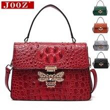 JOOZ sacs à main Crocodile pour femmes, sacs de styliste, sac à épaule avec serrure dabeille en métal de bonne qualité, sacs à main pour femme