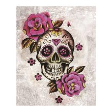 skull rose Moge Diamond Painting Full Round halloween New DIY Toy sticking drill cross embroidery 5D simple home decorative