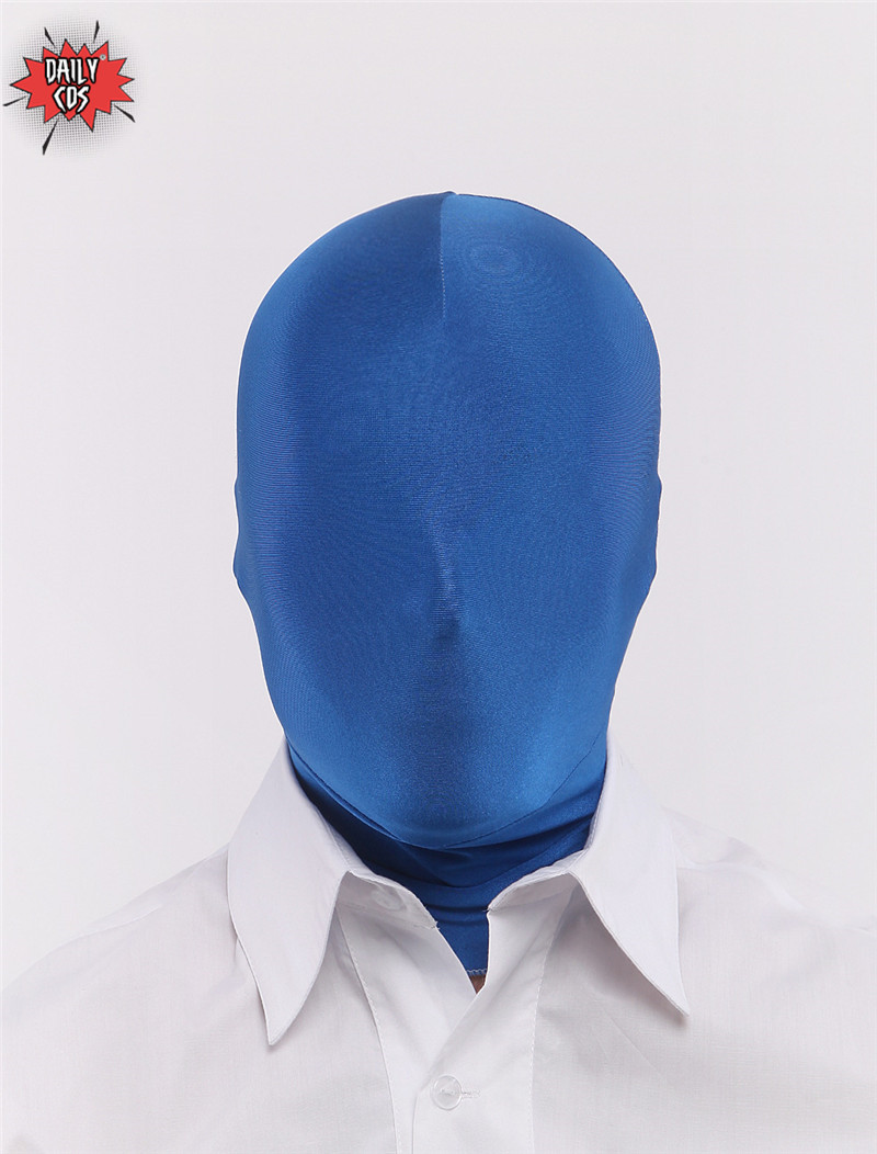 Lycra All Cover Tight Head Cover Hood Zentai Mask With Open Face Open Mouth Eyes Halloween Costume Spandex Adult Mask