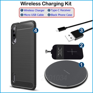 Image 5 - Wireless Charging for Xiaomi Mi A3 /Mi CC9e Qi Wireless Charger+USB Type C Receiver Adapter Gift Soft TPU Case for Xiaomi Mi A3