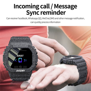 Image 4 - LOKMAT المحيط جهاز تعقب للياقة البدنية التحكم عن بعد الذكية معصمه الرجال IP68 مقاوم للماء ساعة ذكية لنظام أندرويد IOS reloj