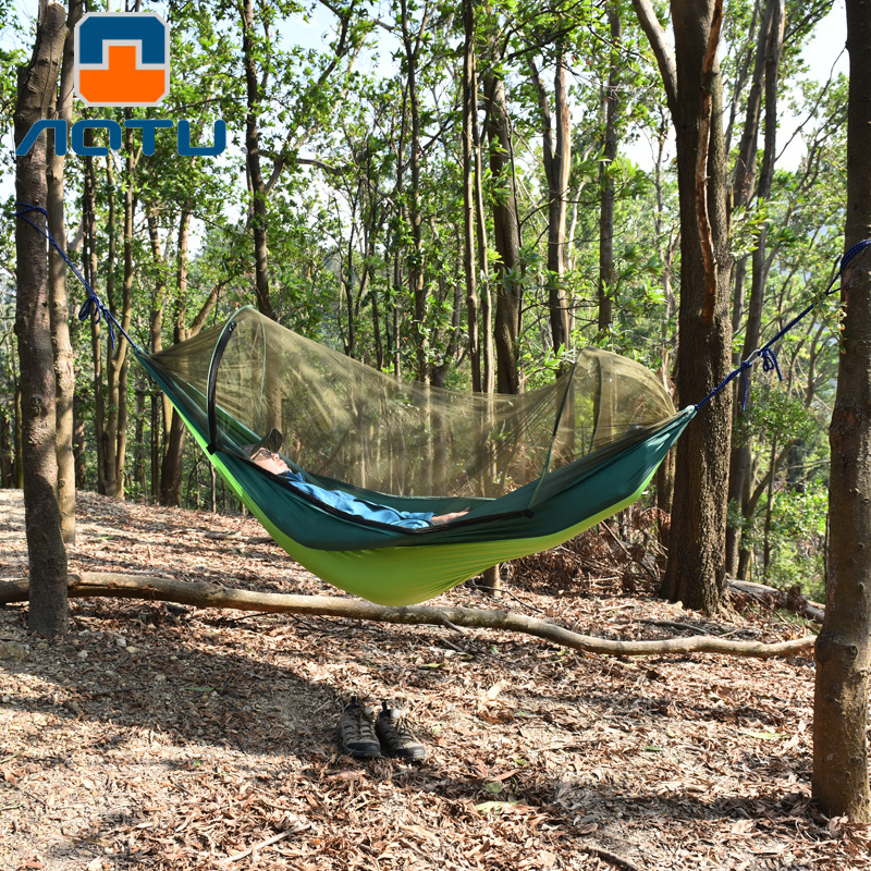 New Products Outdoor Bandage Cloth Mosquito Net Hammock Swing Mountain Climbing Camping Anti-mosquito Hammock Cross Border Hot S
