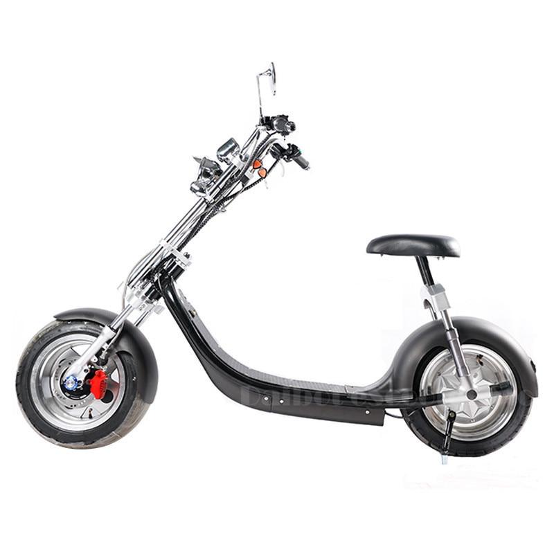Elektrický skútr Citycoco Two Wheels Elektrický skútr Big Wheels 60V 1000W Harley Elektrický skútr se sedadlem (9)