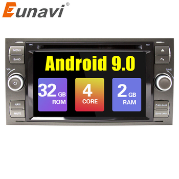 Eunavi 2 din Android 9.0 Car DVD GPS Radio stereo For Ford Mondeo S-max Focus C-MAX Galaxy Fiesta Form Fusion Multimedia PC DSP