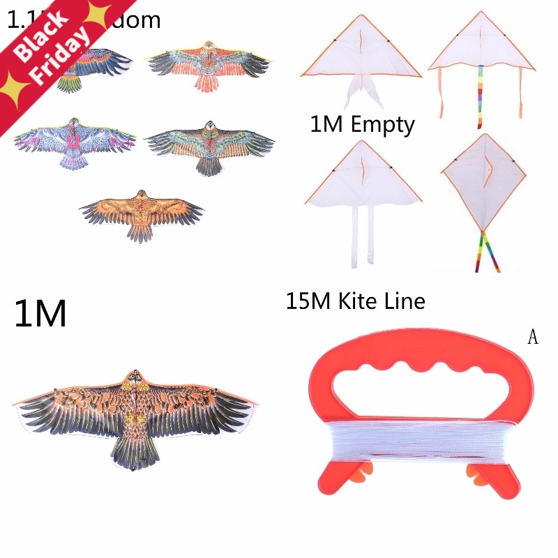1Pc Big Flying Flat Eagle Bird Kite For Children Flying Bird Kites Windsock Outdoor Toys Garden Cloth Eagle Kite Random Color