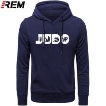 REM Judo Martial Arts Judo Gifts Judo For Men Graphic Crewneck Cotton Print Hoodies, Sweatshirts