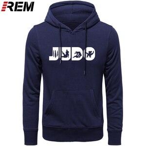 Image 1 - Sweat shirt, col ras du cou graphique, en coton imprimé, vêtement de Judo REM, Arts martiaux, cadeau pour hommes